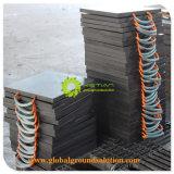 De HDPE pastilhas de escora de Plástico Preto /Placa de suporte da grua para Caminhão Guindaste