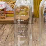 Fabrik-quadratische Olivenöl-Glasgroßhandelsflasche (100010)