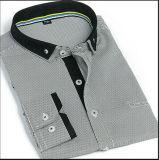 남자의 복장 두 배 고리 지구 셔츠/Button-Down 남자의 지구 예복용 와이셔츠