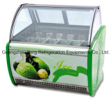 12gn fa una panoramica del congelatore dritto italiano commerciale del gelato di Gelato
