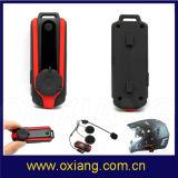 Capacete de moto Bluetooth Intercom Headset 800m GPS e MP3