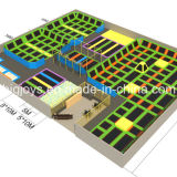 Zona de Sky Trampolim Park para venda (Trampolim Park-038)
