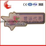 Distintivo stampato ferro inossidabile poco costoso di alta qualità