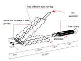 Hot Dog Решетка со специальной лицевой стороной для вилочного захвата