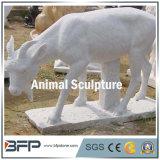 Natural de granito / mármol escultura tallada piedra animal para jardín / decoración al aire libre