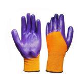 Gants fonctionnants de sûreté de nitriles enduits de Polyestet de la construction 3/4 de Stander 13G de la CE