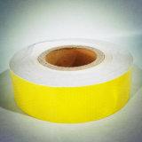 Bande adhésive prismatique de PVC Refelctive de nid d'abeilles jaune de couleur pour le véhicule