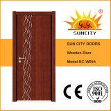 Folheado interior do baixo preço que pinta as portas de madeira do quarto (SC-W055)