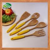 Ustensile de cuisine en bambou multicolore