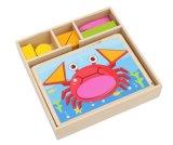 Forma de madera juego de rompecabezas juguetes para niños y los niños