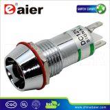 Diámetro de 12 mm LED indicador amarillo, lámpara de indicador 230V (XD22-12)