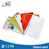 Faible coût RFID 13.56MHz S50 1K carte cartes RFID vierge en PVC