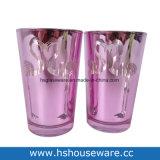 홍학 Deisgn 분홍색 유리제 촛대