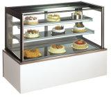 Marmor-oder Edelstahl-Unterseiten-Bildschirmanzeige-Kuchen-Kühlraum