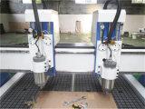 Il doppio fila la mobilia di legno del router di CNC che fa la macchina