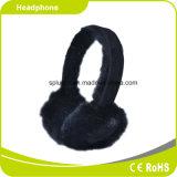 La peluche de laine protègent la subsistance d'oreille avertissent l'écouteur stéréo confortable de Smartphone