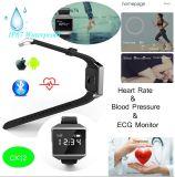 Le bracelet intelligent avec le moniteur du rythme cardiaque d'ECG et imperméabilisent