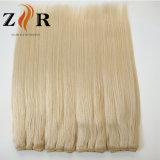 金髪のWeftインドのRemyの毛の拡張
