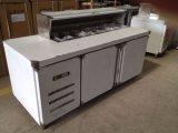 La refrigeración por aire Chiller de escritorio de acero inoxidable Encimera Salad Bar