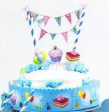Decorazione blu e dentellare del cappello a cilindro della torta di Birthdaty del partito del gelato
