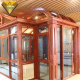 Finestra di alluminio personalizzata della stoffa per tendine di vetratura doppia con la rottura termica