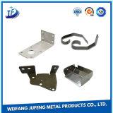 Acessório de peças de dobradiça de porta personalizado de estamparia de metal com peças de fabricação de folha