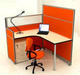 Bereiftes Glas-modulares Büro-Einzelplatzmöbel (HF-YZ054)
