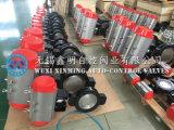 Hochleistungs--Oblate-Drosselventil mit pneumatischem Stellzylinder