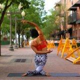 йога напечатанная 3D задыхается гетры спортов (3079)