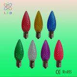 Ampolas baixas lapidadas plástico de árvore de Natal do diodo emissor de luz E12 C7 do diodo emissor de luz C7