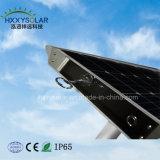 Smart en el exterior de la luz de LED 30W de luz de calle solar integrada con control remoto