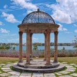 Paviljoen van de Tuin van de steen het Marmeren voor Antieke Openlucht