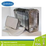 L'aluminium jetables ronds en matériau de la quiche casseroles