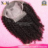 Perruques à cheveux courts Deep Curly Peruvian Clip Lace Front Perruques 8-30inch coudre dans la perruque en dentelle tressée Cheveux humains, perruque Caps pour faire des perruques