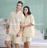 熱い販売法のホテルの/Homeのカップルの綿のワッフルの浴衣/浴室のスーツ/パジャマ/Nightwear/寝間着