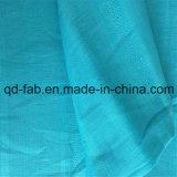 Tela de lino del paño azul del telar jacquar (QF16-2473)