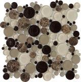 Cucina di marmo rotonda della stanza da bagno delle mattonelle di mosaico di miscela del mosaico