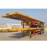 세 배 차축 40FT 공기 현탁액 평상형 트레일러 콘테이너 트레일러