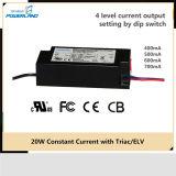 fonte de alimentação constante do excitador do diodo emissor de luz da corrente de 20W 400/500/600/700mA