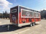 L'alimento mobile trasporta il rimorchio su autocarro mobile del Van Mobile Food del gelato del rimorchio dell'alimento
