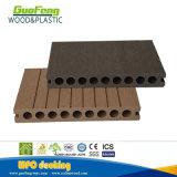 Водоустойчивый полый напольный деревянный Decking пластмассы WPC