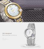 金、 女性のブランドBelbiのためのカラーダイヤモンドの花の女性腕時計の宝石類の水晶日本銀製PC21贅沢な腕時計中国製