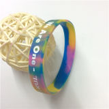 Presente de alta qualidade para promoção Debossed Custom Rubber Bracelets