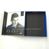 Rectángulo de regalo de papel impreso Matt plegable con la solapa magnética