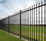 Revêtement poudré noir acier Fer Commercial clôtures métalliques