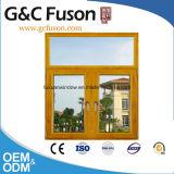 Finestra di apertura di alluminio di stile francese doppia/finestra di vetro Tempered per l'hotel