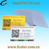 ID de PVC blanc imprimable jet d'encre de la carte Carte à puce
