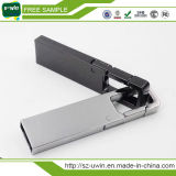 Förderndes Metallschwenker USB-Blitz-Laufwerk mit kundenspezifischem Firmenzeichen