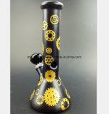 [سموك بيب] سوداء زجاجيّة زجاجيّة مع ترك معدن شكل