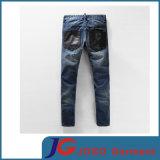 Men (JC3399)のための方法Skinny PU Splicing Harlen Biker Jeans